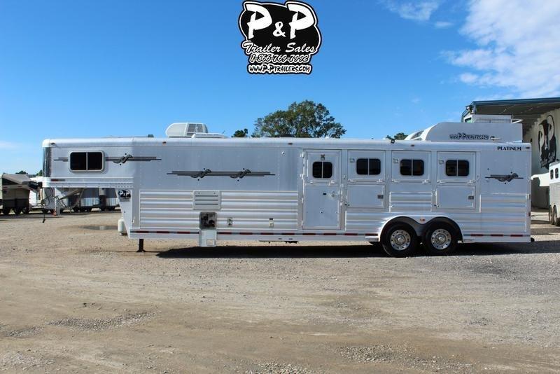2007 Platinum Coach Trailers 4 Horse 12' Short Wall