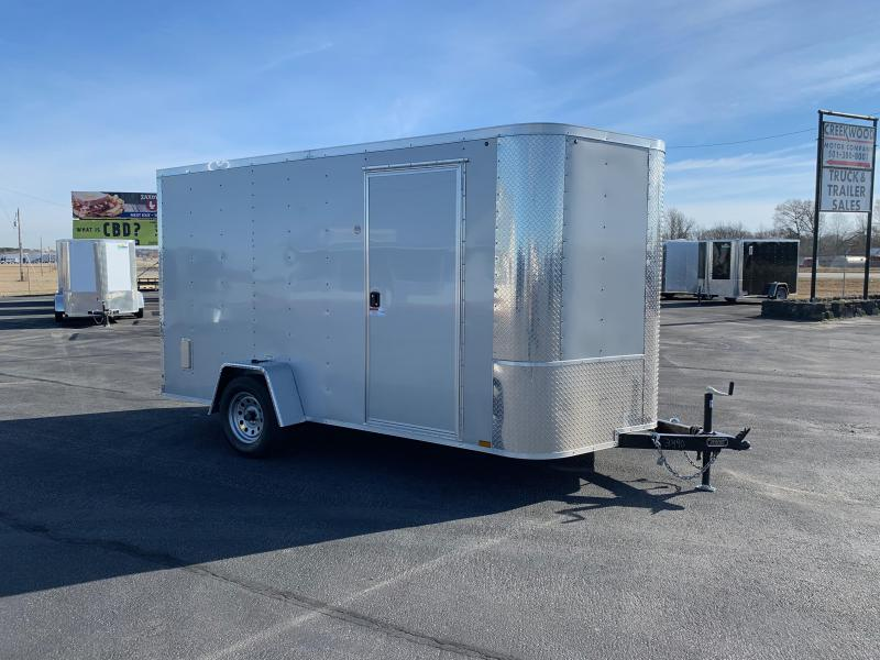 "2019 Arising 7X12VSRSM Enclosed Cargo Trailer 6"" Additional Height"