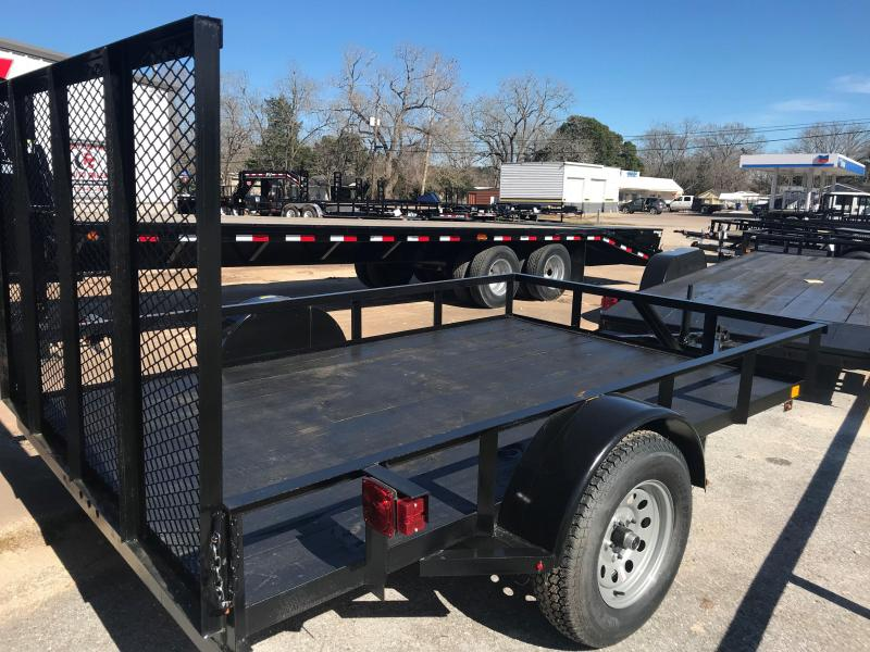 C&M 76x10 Single Axle Utility Trailer