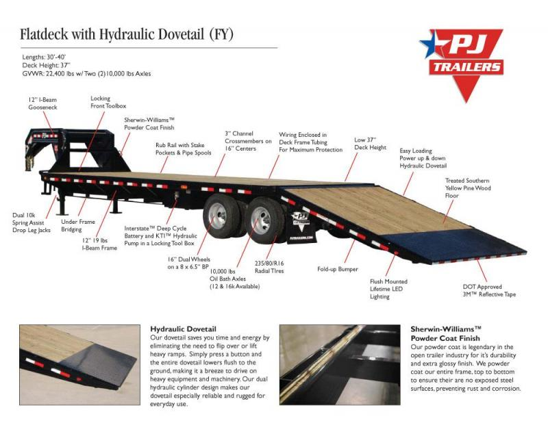 PJ Flatbed w/Hydraulic Dovetail (LY)