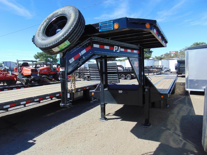 2019 PJ Trailers Hyd. Dove Tail Gooseneck Equipment Trailer