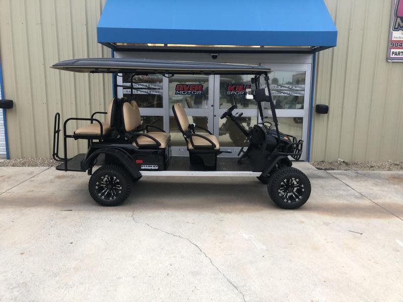 StarEV Sport 48V Electric Golf Cart Street Legal 6 Pass - Black