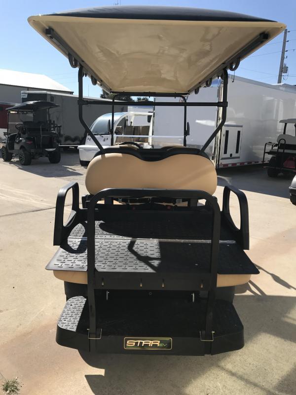 2018 StarEV Classic 48V Electric Golf Cart Street Legal 6 Pass - Black