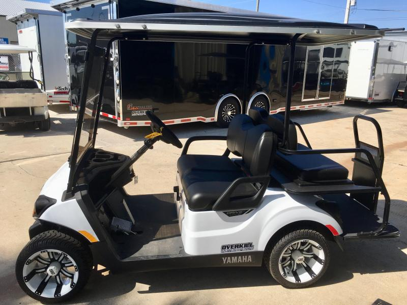 2019 Yamaha Drive2 Fuel Injected Gas Golf Cart 4 Pass - White