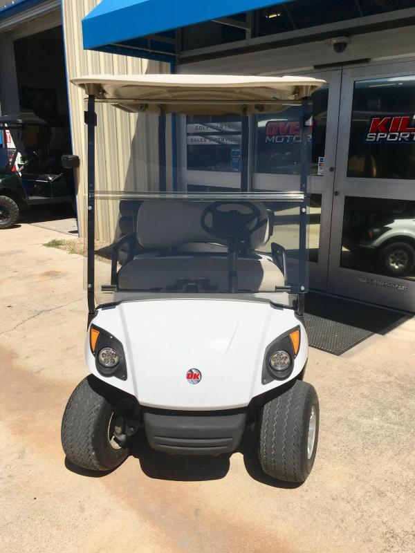 2013 Yamaha Drive2 48V Electric Golf Cart 2 Pass w/ Cargo Box - White