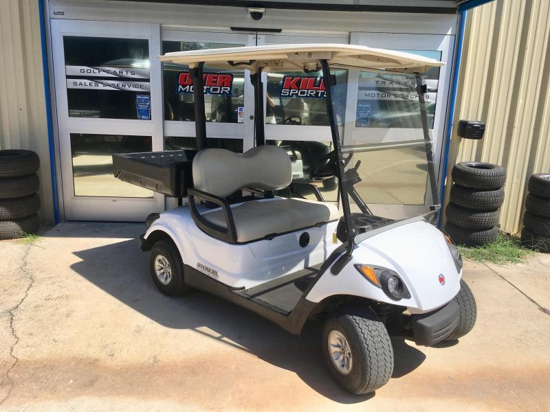 2013 Yamaha Drive2 48V Electric Golf Cart 2 Pass w/ Cargo Box - White