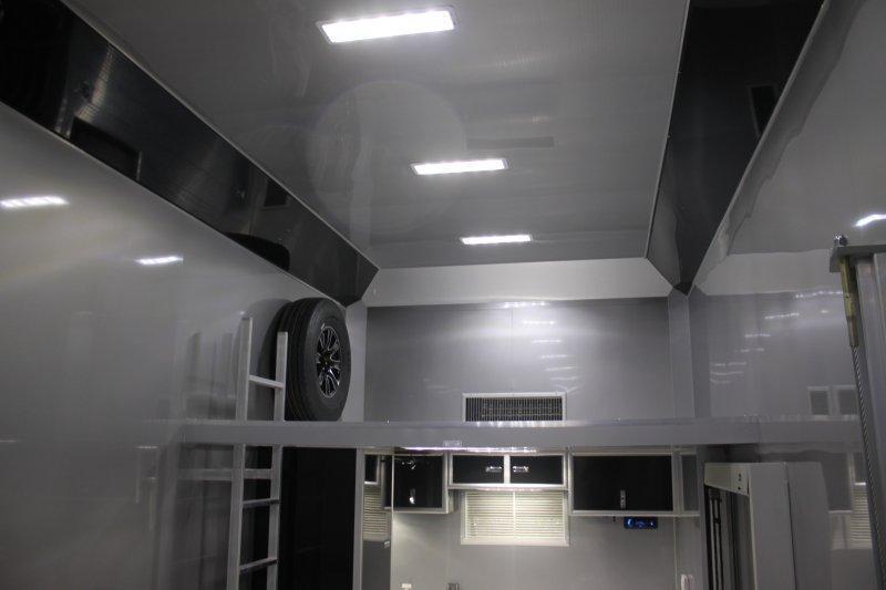 2018 inTech Icon 34' All Aluminum Triple 7000 Torsion Axle Stacker Trailer White