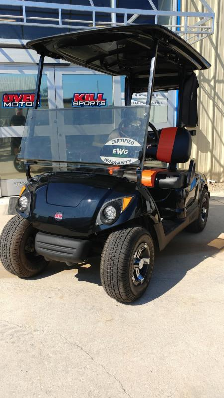 2013 Yamaha Drive Electric Golf Cart 2-Passenger Black/Orange