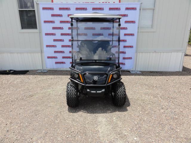 2020 Yamaha Drive 2 Adventurer Sport Gas Golf Cart 4 Passenger Black with Black Seats