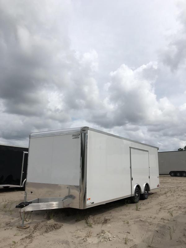 2019 Bravo  Silver Star 24' Aluminum Tag Trailer w/ Full Escape Door