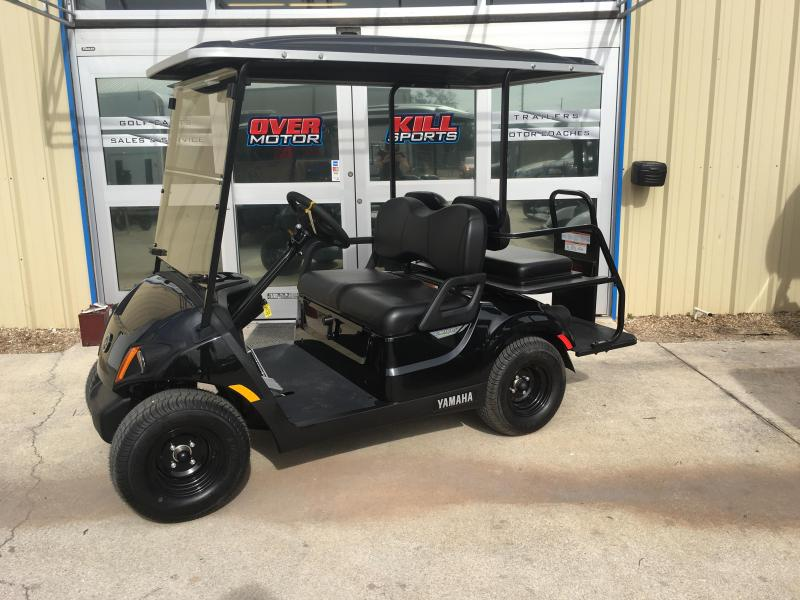 2018 Yamaha Drive 2 QuieTech EFI Gas Golf Cart  4 Passenger Black