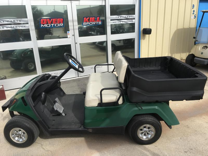 2011 Yamaha Adventurer 1 Gas Golf Cart 2 Passenger with Cargo Box Green
