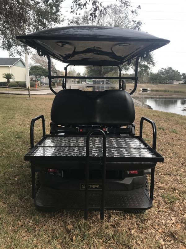 2019 StarEV Sport 48V Electric Golf Cart Street Legal 4 Pass - Black