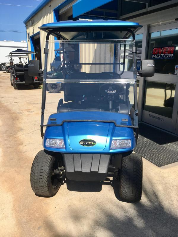 2018 StarEV Limited 48V Electric Golf Cart Street Legal 4 Pass - Tidal Blue