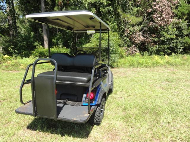 2020 Yamaha Drive 2 Adventurer Sport Gas Golf Cart 4 Passenger Blue with Black Seats