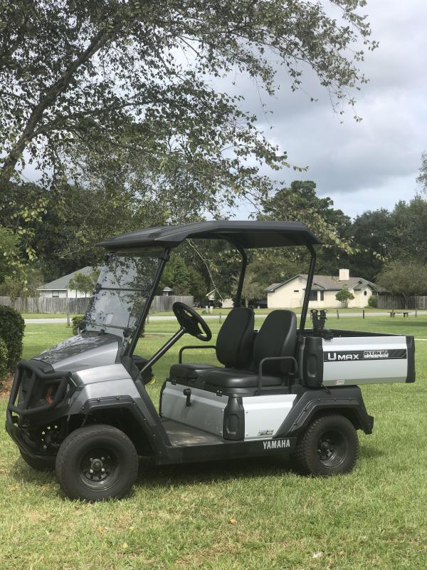2019 Yamaha UMax One Gas Golf Cart 2 Passenger with Dump Bed - Carbon