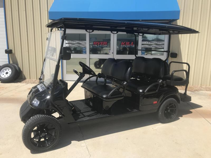 2018 StarEV Classic 48V Electric Golf Cart Street Legal 6 Pass - Black LOADED