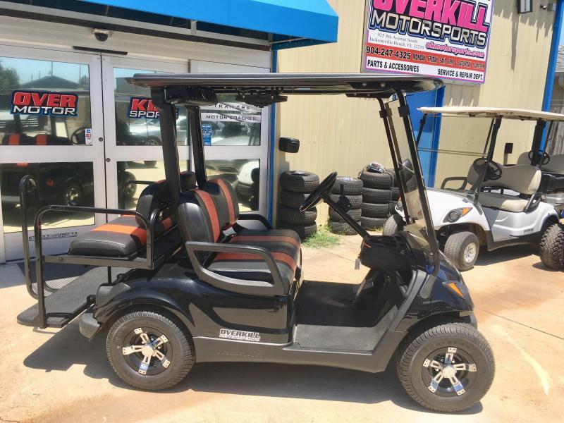 2013 Yamaha Drive Electric Golf Cart 4 Pass Black Used Trailer