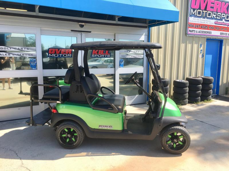 2014 Club Car Precedent 48V Electric Golf Cart 4 Pass - Lime Green