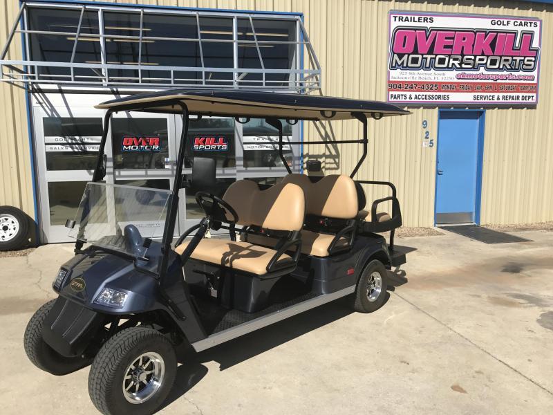 2018 StarEV Classic 48V Electric Golf Cart Street Legal 6 Pass - Blue