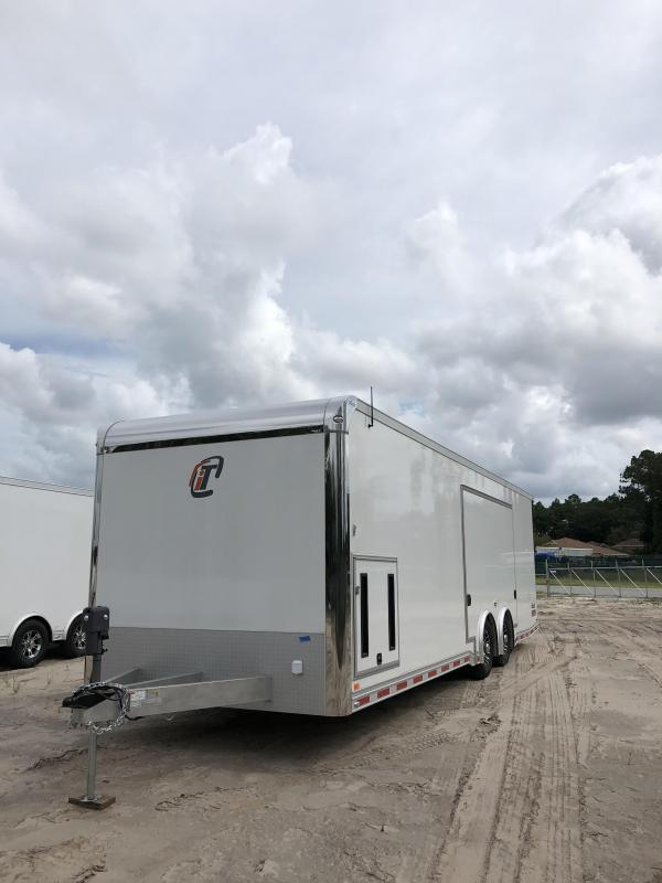 2019 inTech 28' All Aluminum Tag Trailer W/ Full Size Escape Door