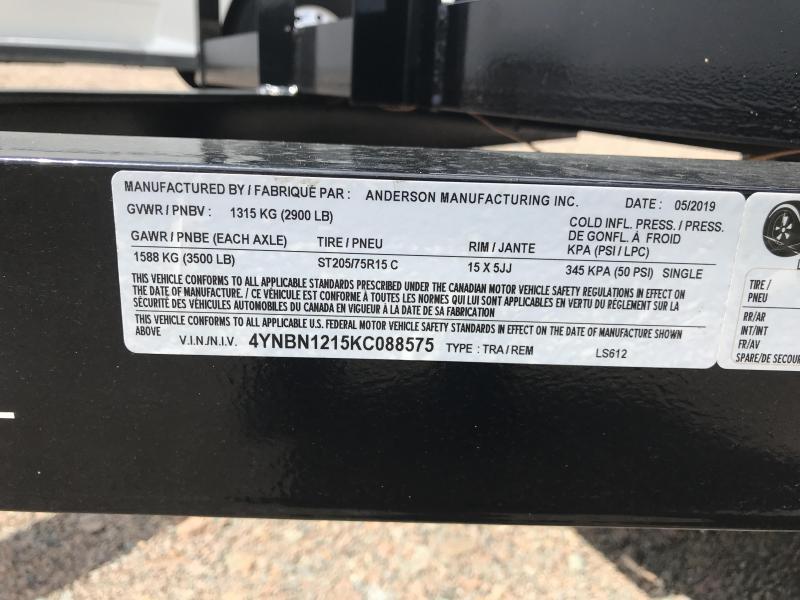 2019 Anderson LS6x12 Open Utility Trailer