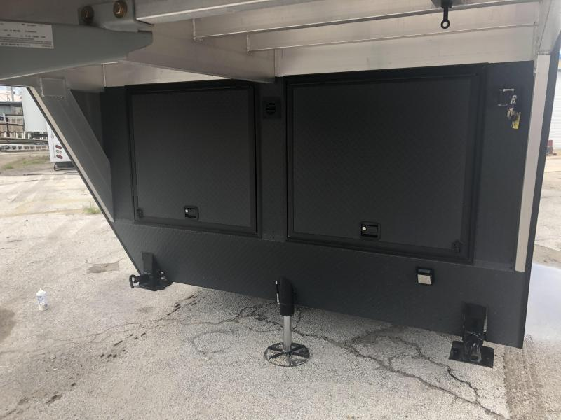 2019 inTech 40' All Aluminum Gooseneck Trailer w/ Black Exterior Trim PKG