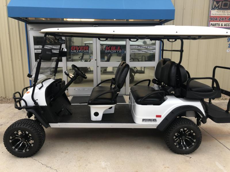 2019 StarEV Sport 48V Electric Golf Cart Street Legal 6 Pass - White