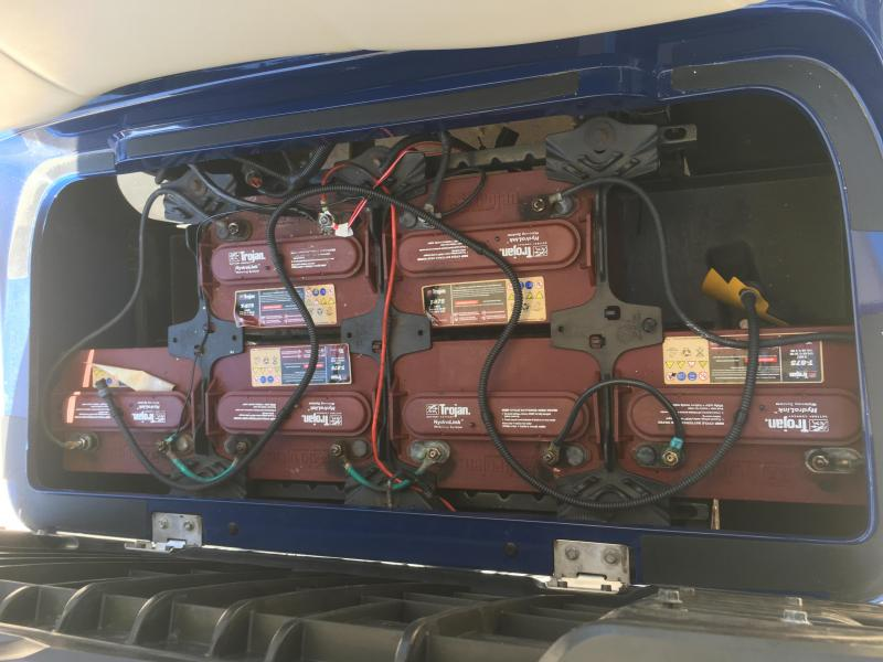 2013 Yamaha Drive 48V Electric Street Legal Golf Cart 4 Pass - Blue