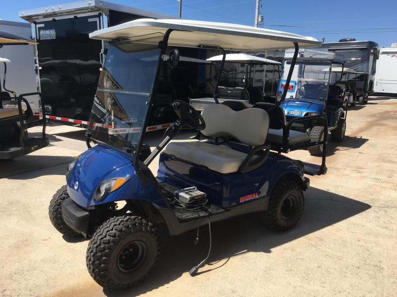 2013 Yamaha Drive 48V Electric Street Legal Golf Cart 4 Pass - Blue