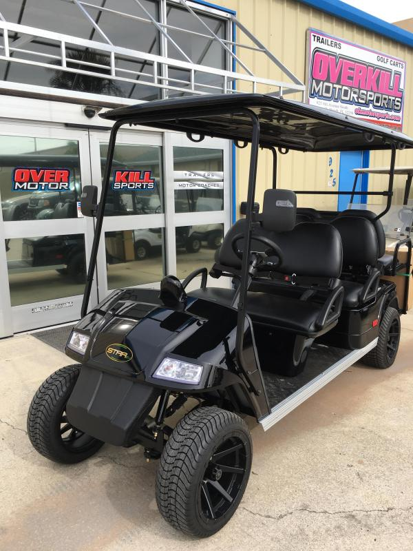 2018 StarEV Classic 48V Electric Golf Cart Street Legal 6 Pass - Black
