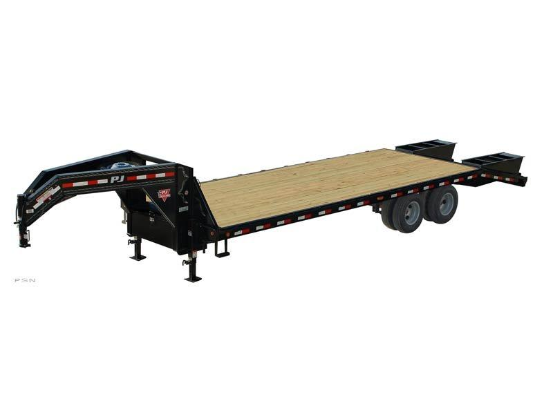 30' Flatdeck w/ Monster Ramps + 15k Axles