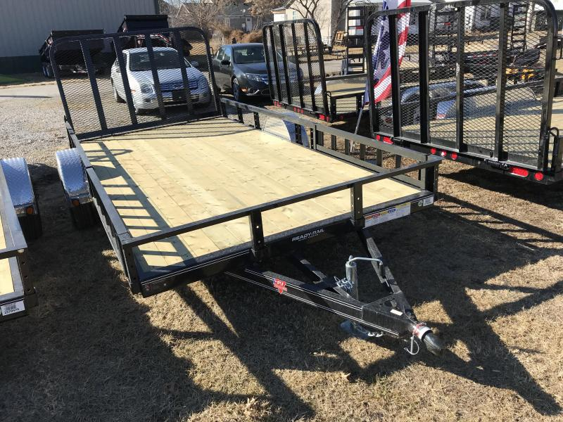 2018 PJ Trailers 83x14 Singe Axle Utility W/ SIDE RAMPS (U8)