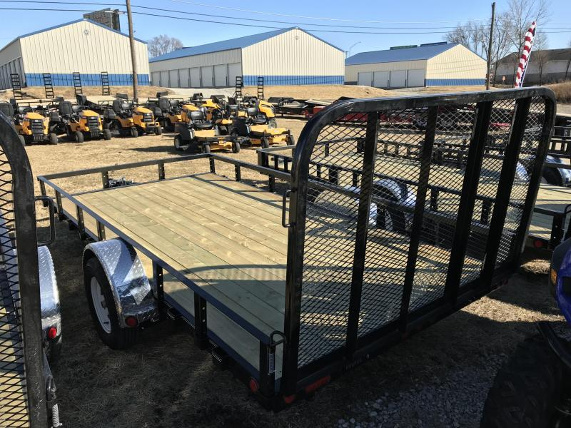 2019 PJ Trailers 83x14 Single Axle Utility W/ ELECTRIC BRAKE AXLE (U8)