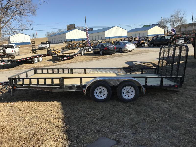 2018 PJ Trailers 83x18 Tandem Axle Channel Utility (UL)