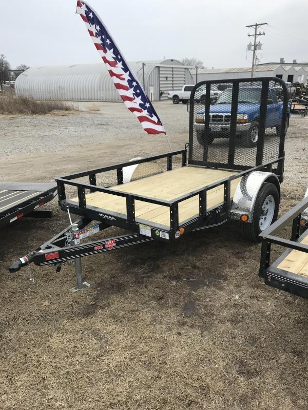 2018 PJ Trailers 8' Single Axle Channel Utility (U6)