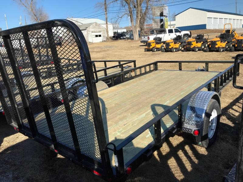 2019 PJ Trailers 14' Channel Utility W/ SIDE RAMPS (U8) Utility Trailer