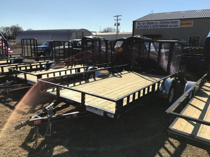 2018 PJ Trailers 14' Channel Utility W/ SIDE RAMPS (U8) Utility Trailer