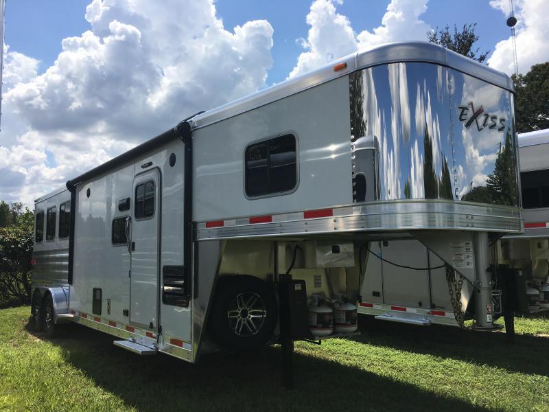 2018 Exiss Escape 7310 LQ W/Glide Horse Trailer