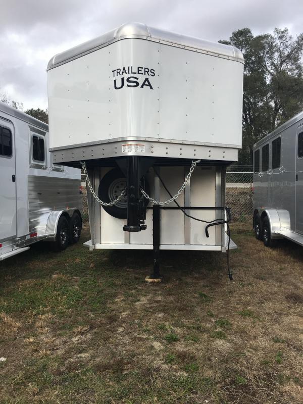 2018 Trailers USA  Minuteman 2H GN Horse Trailer