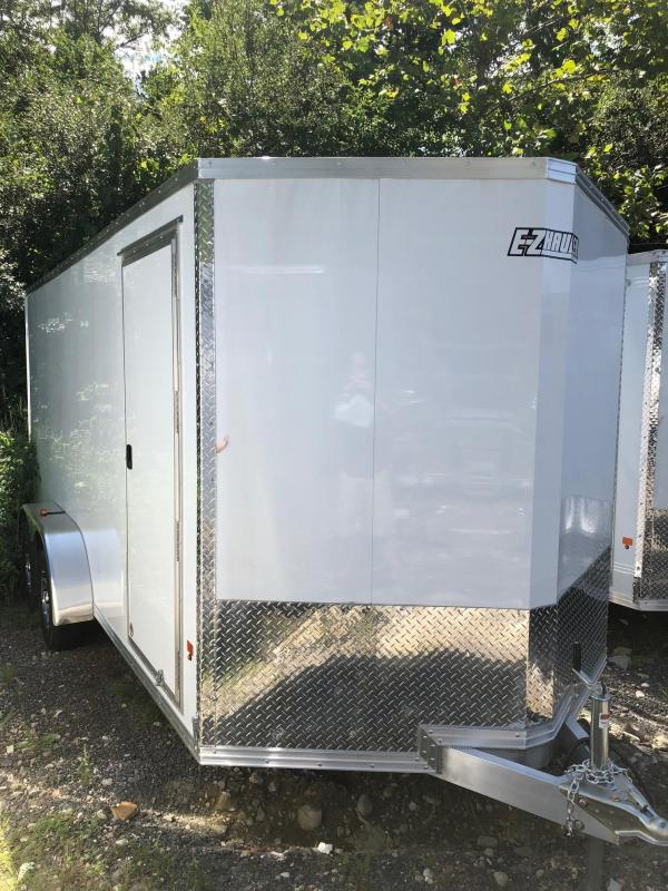 2018 EZ Hauler EZEC7X16 Enclosed Trailer w/ RAMP - WHITE