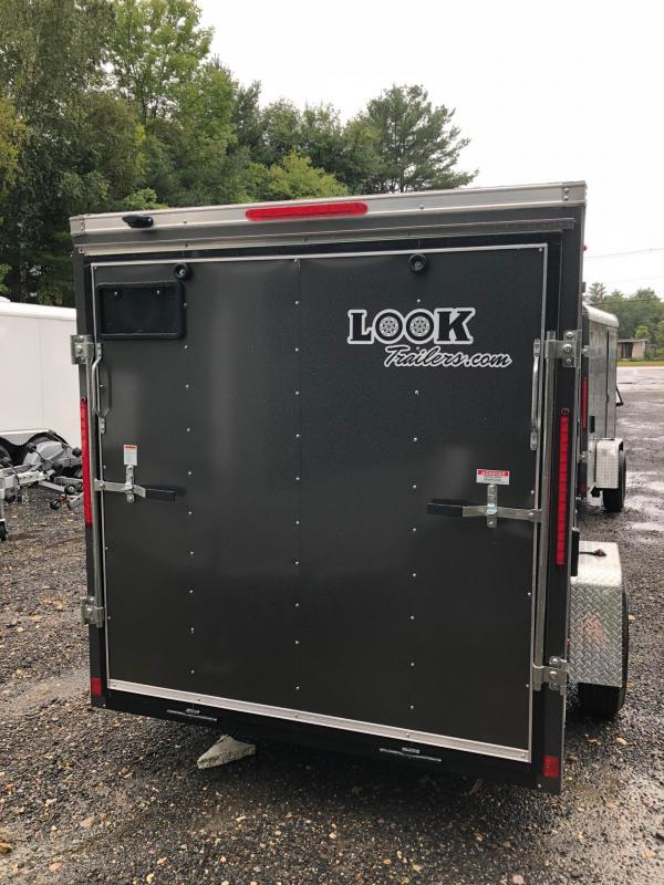 2018 Look Trailers St Cargo Deluxe Cargo / Enclosed Trailer w/ RAMP - CHARCOAL