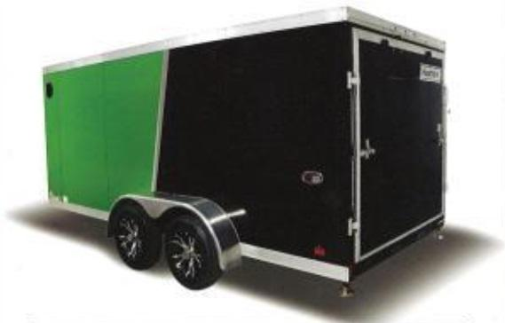 2019 Haulmark HMVG712T (3000 Trim Level) Enclosed Cargo Trailer w/ BARN DOORS - WHITE