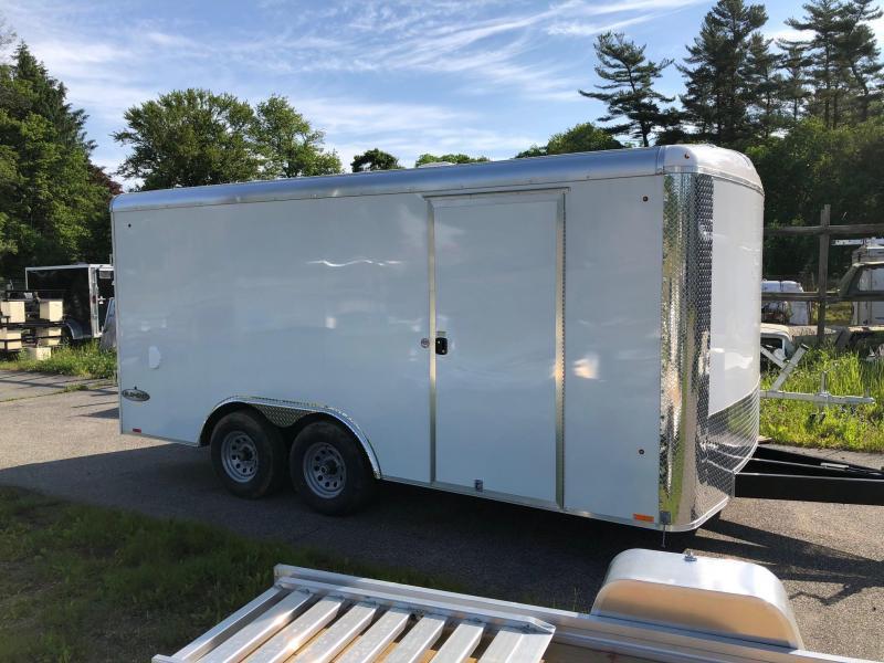 2019 LOOK ERLC85X16 Enclosed Cargo Trailer w/ RAMP - WHITE
