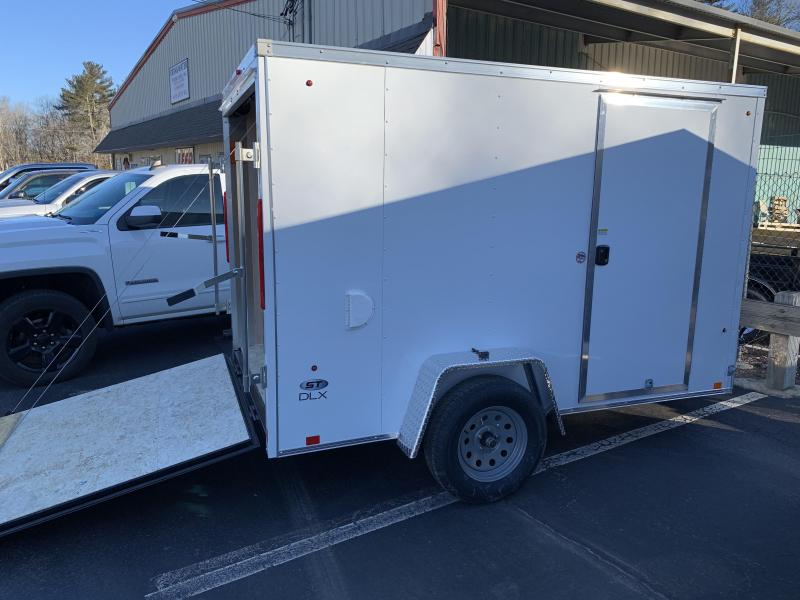 2020 Look Trailers St Cargo Deluxe 6x10 w/ RAMP - WHITE