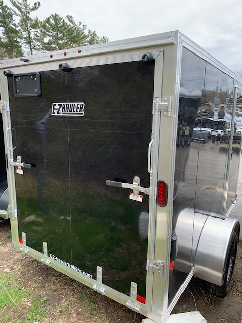 2019 EZ HAULER 6X10 Enclosed Cargo Trailer - BLACK - Ramp Door