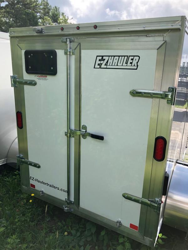 2018 EZ Hauler EZEC5X8 Enclosed Cargo Trailer w/ BARN DOORS - WHITE