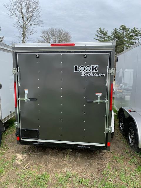 2020 Look Trailers 6X12 Cargo Deluxe Cargo / Enclosed Trailer w/ Ramp - Charcoal