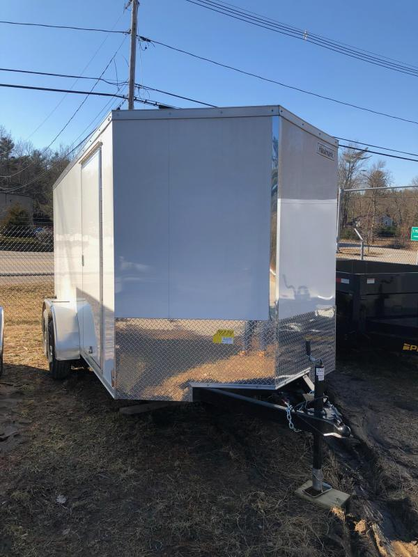 2019 Haulmark HMVG714T Enclosed Cargo Trailer w/ RAMP - WHITE