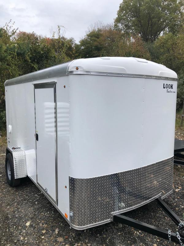 2019 Look Trailers 6X12 Cargo Dlx Cargo / Enclosed Trailer W/ Ramp - White